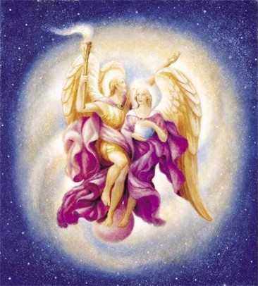 Archangel Zadkiel and Amethyst
